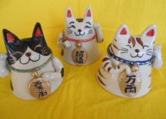 陶器の招き猫作ってみませんか!