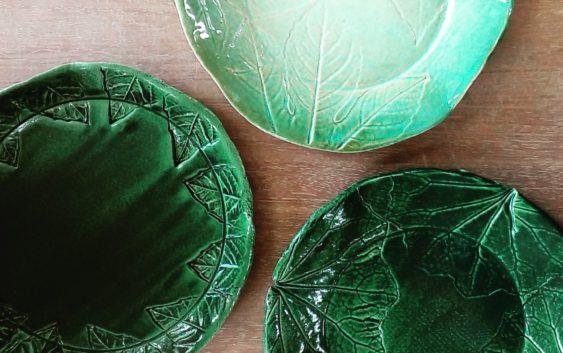 葉紋(ようもん)皿を作ろう! 2枚組